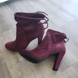 Brand new Charles David burgundy booties